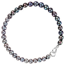 Buy Claudia Bradby Ombre Freshwater Pearl Strand Bracelet, Grey/Peacock Online at johnlewis.com