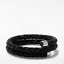 Buy John Lewis Sparkle Double Stretch Wrap Bracelet, Black Online at johnlewis.com
