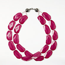 Buy John Lewis Double Layer Beaded Necklace, Fuchsia Online at johnlewis.com