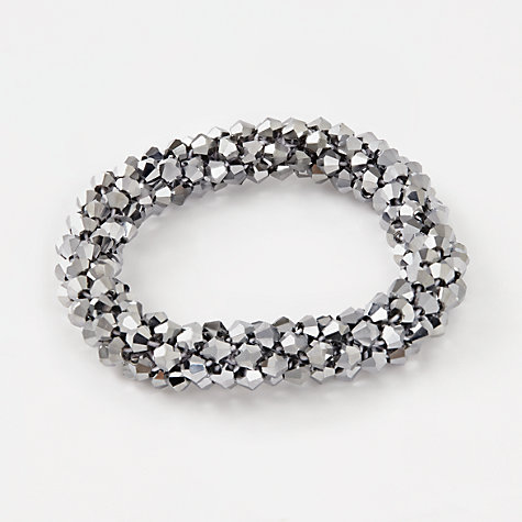 Buy John Lewis Sparkle Stretch Beaded Bracelet, Grey Online at johnlewis.com