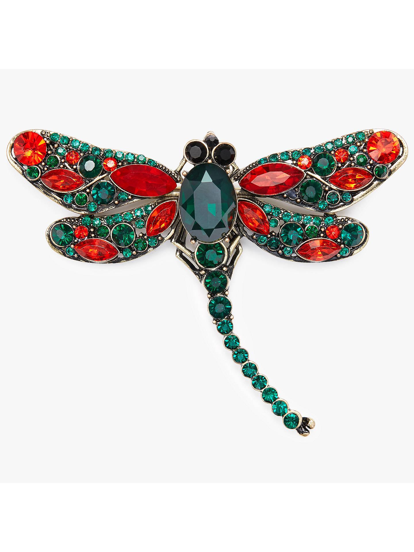 20a1a6dffde6e John Lewis Dragonfly Brooch, Emerald/Ruby at John Lewis & Partners