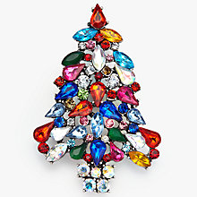 Buy John Lewis Christmas Tree Brooch, Multi Online at johnlewis.com