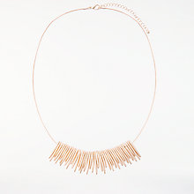 Buy John Lewis Fan Necklace, Rose Gold Online at johnlewis.com