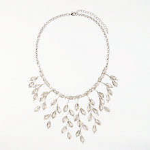 Buy John Lewis Crystal Statement Drop Necklace, Silver/Grey Online at johnlewis.com