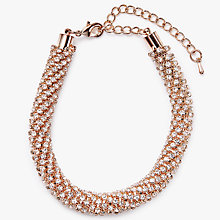 Buy John Lewis Cubic Zirconia Bracelet, Rose Gold Online at johnlewis.com