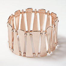 Buy John Lewis Triangular Stretch Bracelet, Rose Gold Online at johnlewis.com