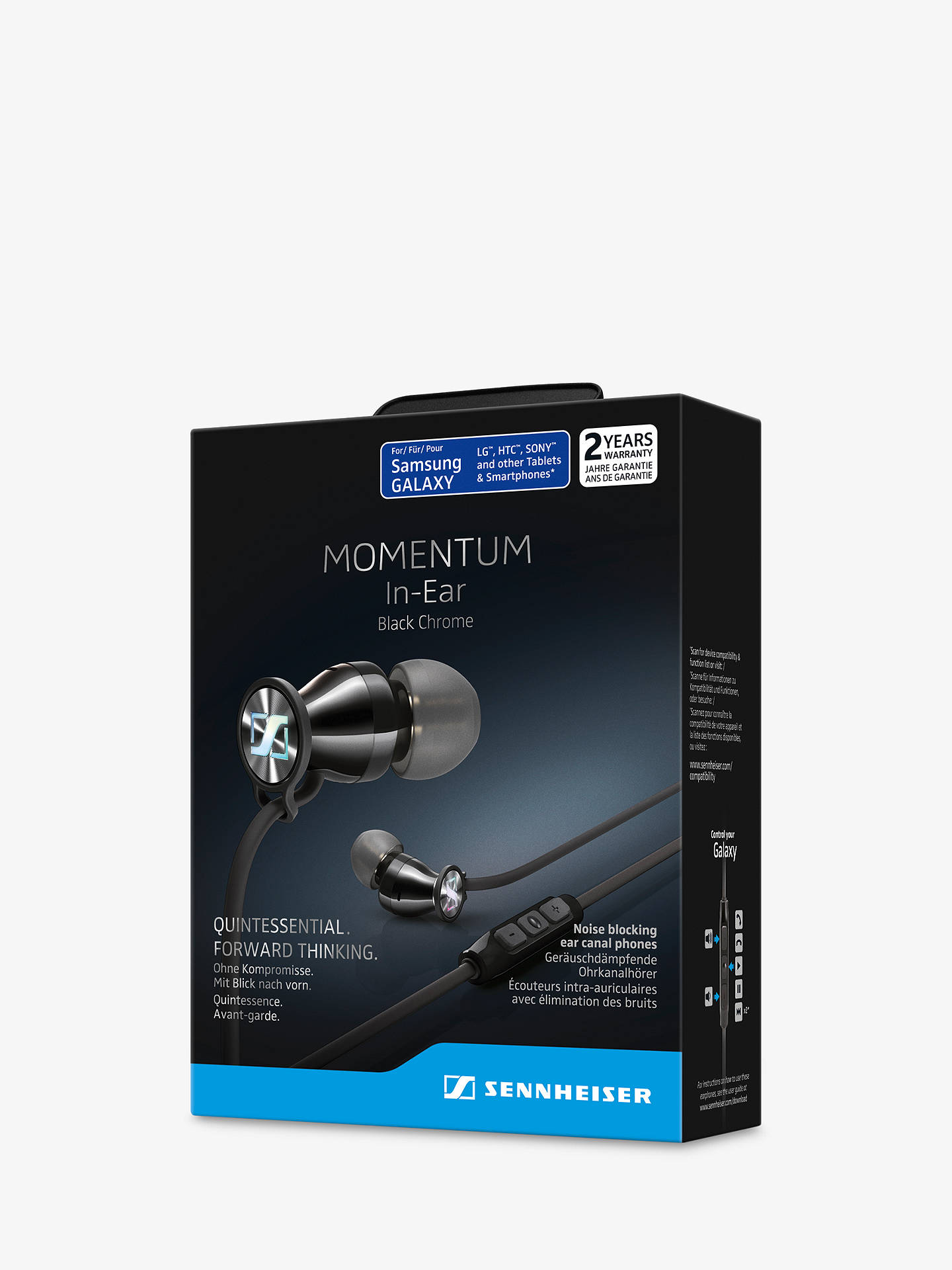 BuySennheiser MOMENTUM 2.0 G In-Ear Headphones with Mic/Remote for Android Devices, Black/Chrome Online at johnlewis.com