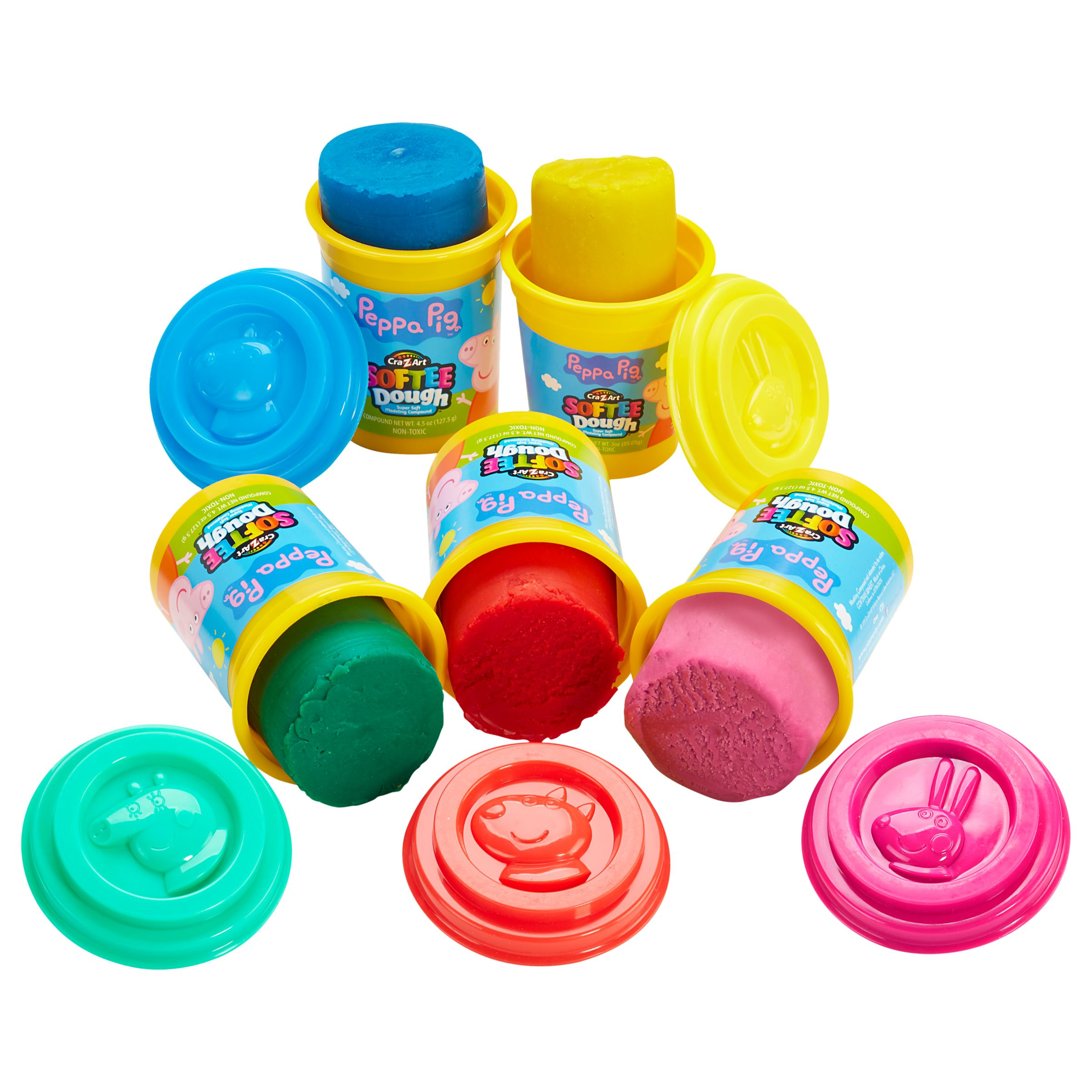 Peppa Pig Peppa Pig Dough, Pack of 5, Assorted Styles/Colour