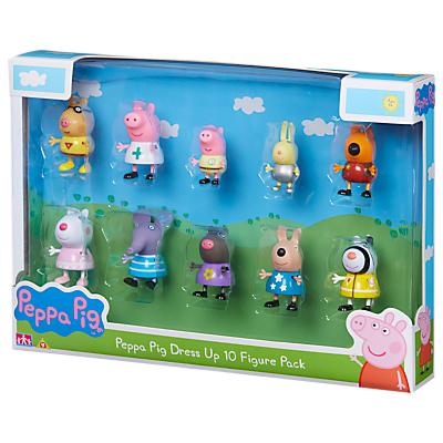 Peppa Pig Dress Up, 10 Figure Pack, Assorted