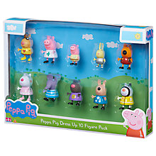 Buy Peppa Pig Dress Up, 10 Figure Pack, Assorted Online at johnlewis.com