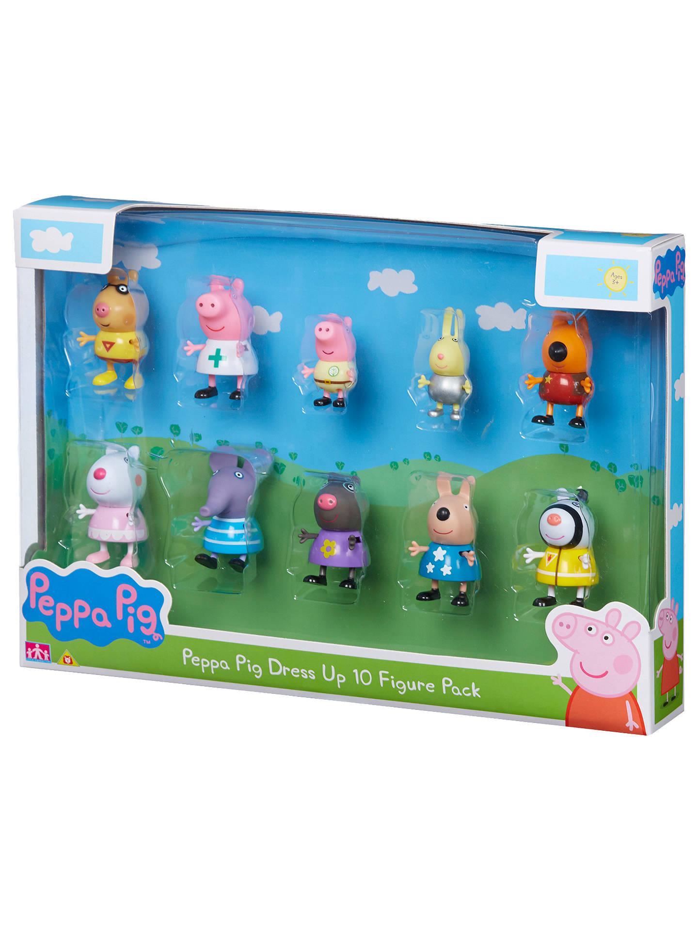 754769088424b Buy Peppa Pig Dress Up, 10 Figure Pack, Assorted Online at johnlewis.com ...