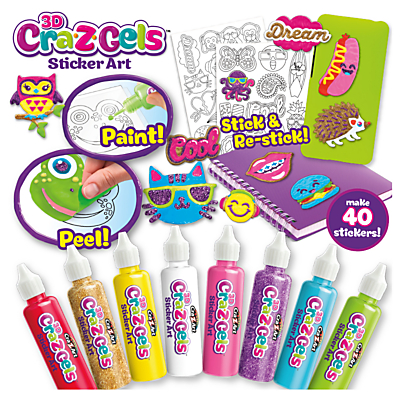 Cra-Z-Art Cra-Z-Gels Sticker Art Deluxe Set