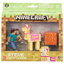 Buy Minecraft Steve & Llama Series 4 Pack Online at johnlewis.com