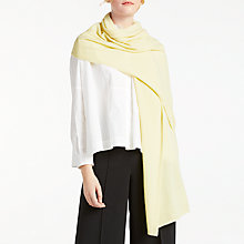 Buy John Lewis Cashmere Large Travel Wrap, Lemon Online at johnlewis.com