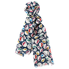 Buy Seasalt Pretty Printed Scarf, Vintage Leaf Night Online at johnlewis.com