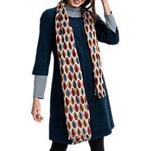 Buy Seasalt Pretty Printed Scarf, Scratch Leaves Ecru Online at johnlewis.com