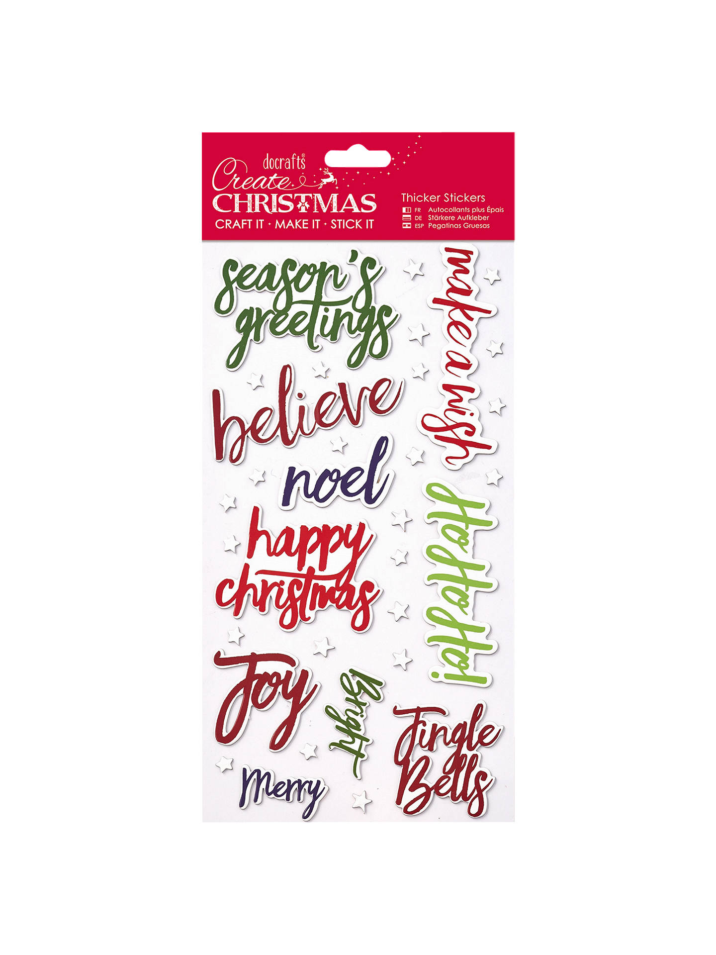 buydocrafts papermania thick christmas words stickers online at johnlewiscom - Christmas Words That Start With S
