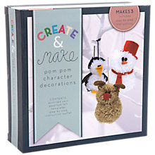 Buy Create and Make Pom Pom Christmas Characters Kit Online at johnlewis.com