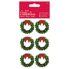 Buy Docrafts Mini Wreaths, Pack of 6, Green Online at johnlewis.com