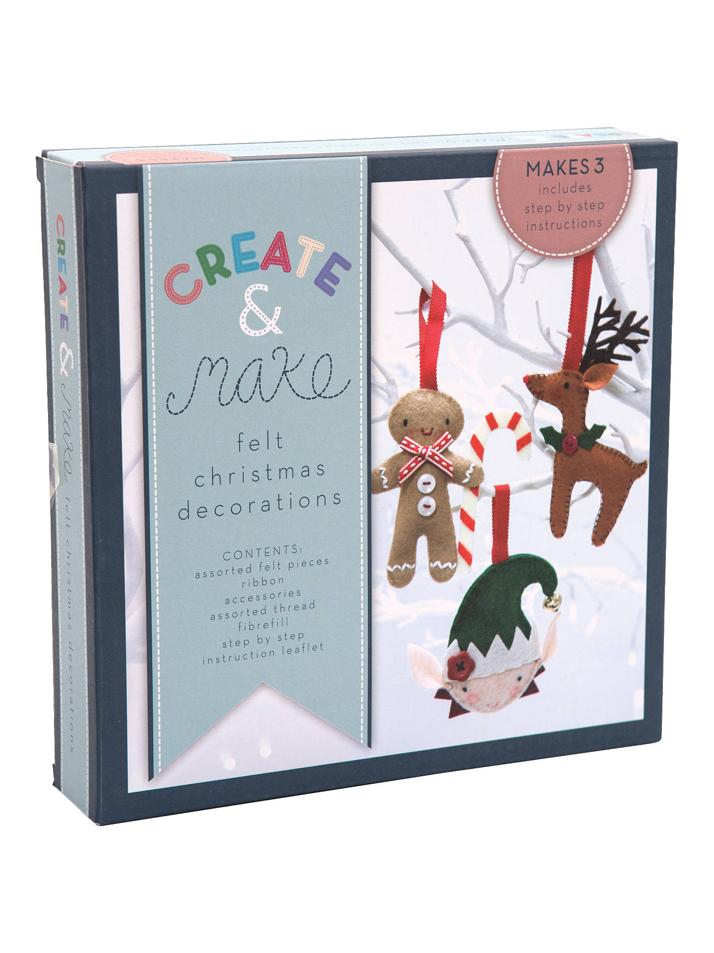 John Lewis Christmas Decorations.Create And Make Felt Christmas Decorations Pack Of 3 At