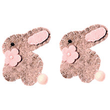 Easter crafts easter gifts john lewis buy habico handmade felt bunny grey online at johnlewis negle Choice Image