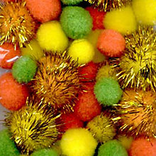 Buy Habico Mixed Pom Poms, Pack of 33, Glitter Online at johnlewis.com