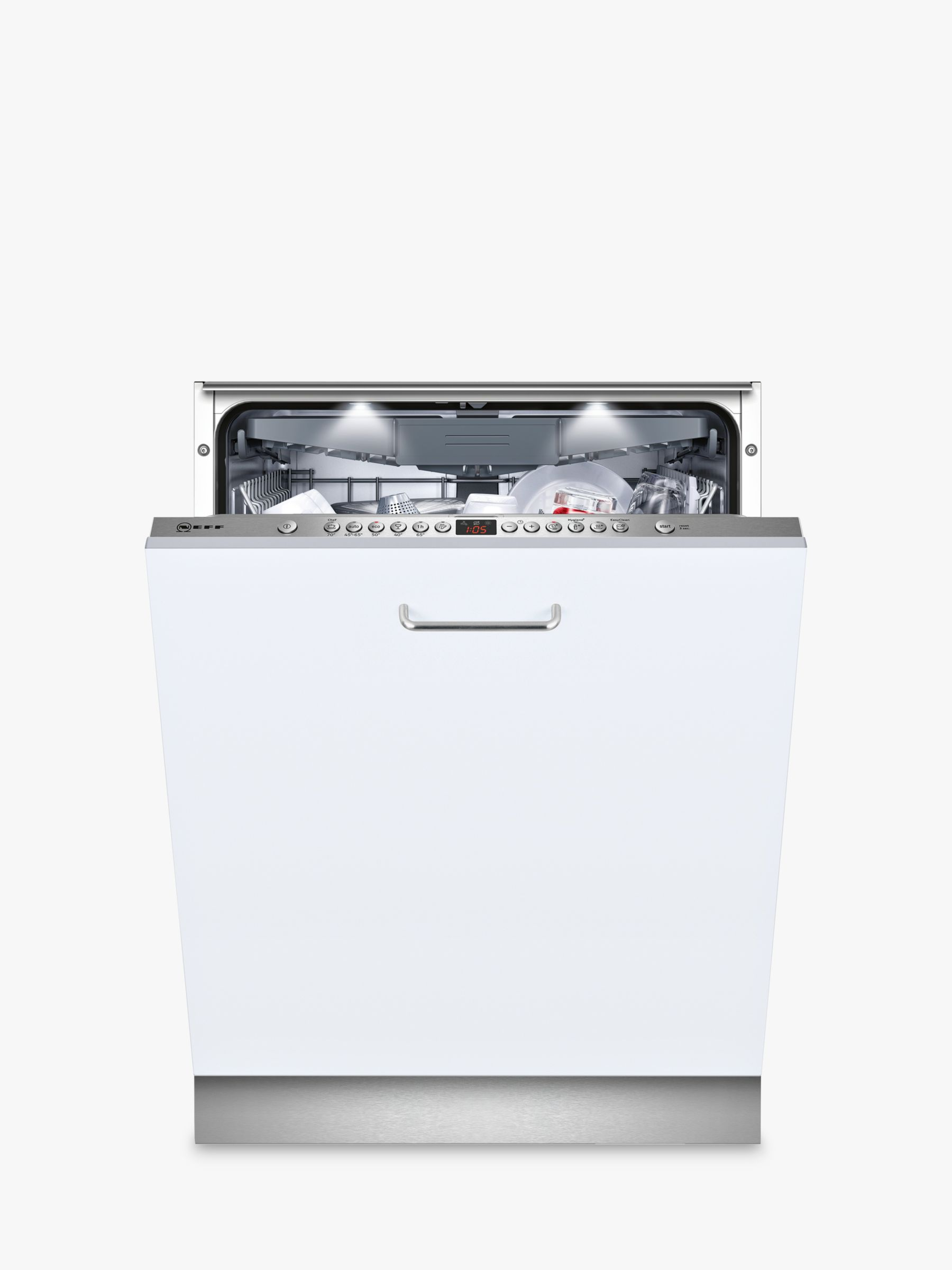 NEFF Neff S513M60X1G Integrated Dishwasher, Stainless Steel