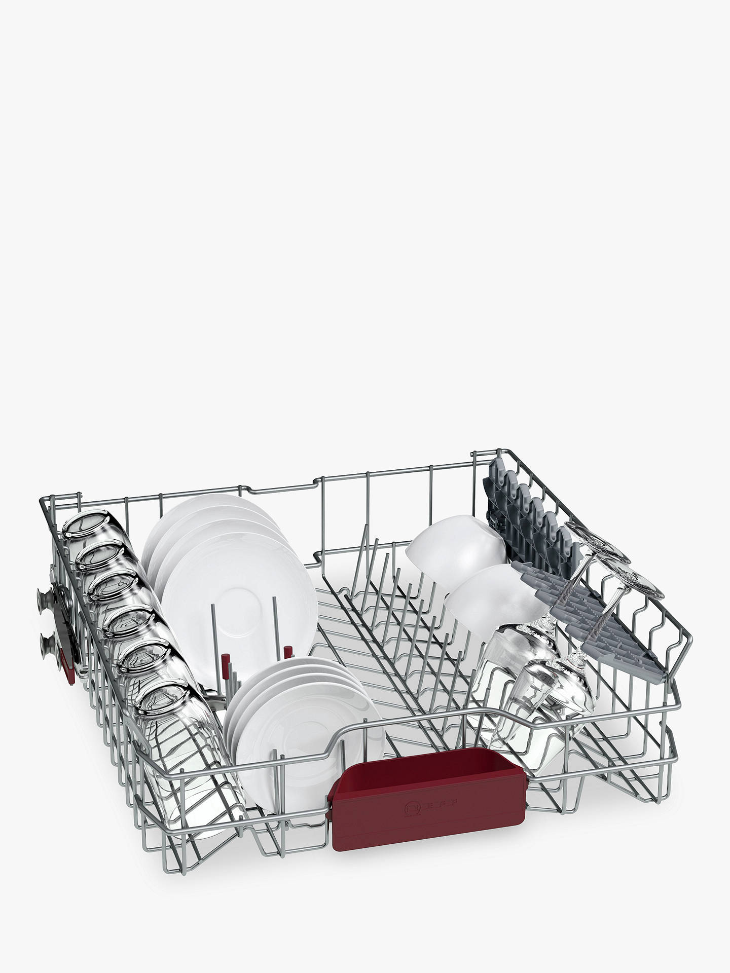 BuyNeff S513M60X1G Integrated Dishwasher, Stainless Steel Online at johnlewis.com