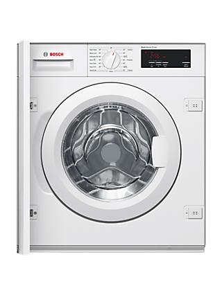 Bosch WIW28300GB Integrated Washing Machine, 8kg Load, A+++ Energy Rating, 1355rpm Spin, White