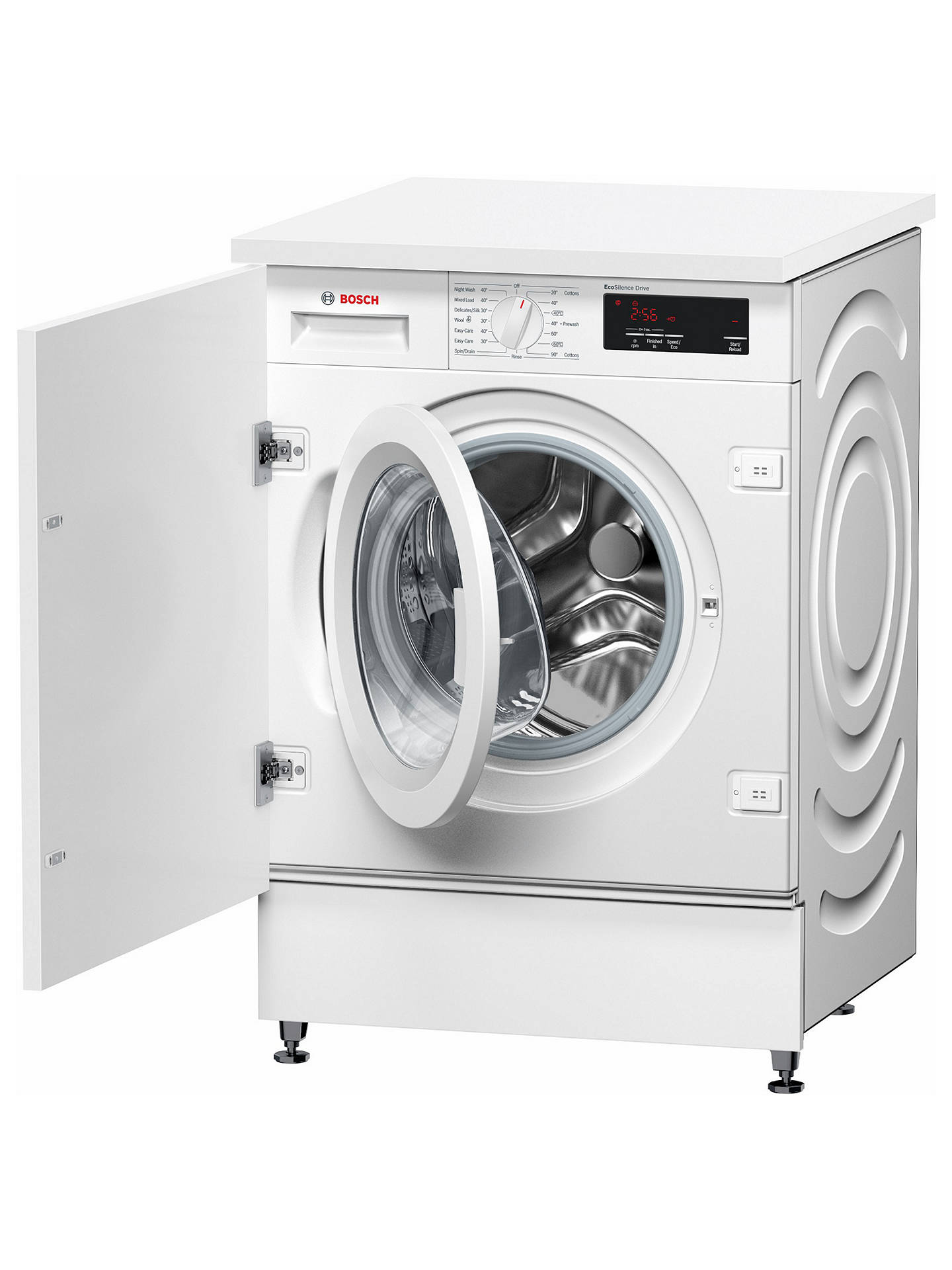 Buy Bosch WIW28300GB Integrated Washing Machine, 8kg Load, A+++ Energy Rating, 1355rpm Spin, White Online at johnlewis.com