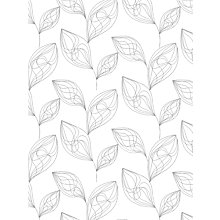 Buy John Lewis Stitch Leaf Made to Measure Sheer Roller Blind, White / Grey Online at johnlewis.com