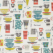 Buy John Lewis Coffee Cups Made to Measure Daylight Roller Blind, Multi Online at johnlewis.com
