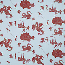 Buy Paperboy 'Ere be Dragons Made to Measure Daylight Roller Blind, Blue Online at johnlewis.com