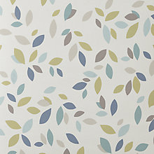 Buy John Lewis Scattered Leaves Made to Measure Blackout Roller Blind, Pastel Online at johnlewis.com
