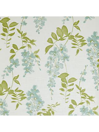 Sanderson Wisteria Blossom Made to Measure Daylight Roller Blind, Aqua / Lime