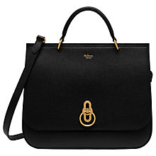 Buy Mulberry Amberley Small Classic Grain Leather Cross Body Bag, Black Online at johnlewis.com