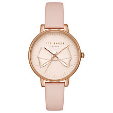 e7f28d53113f Buy Ted Baker Women s Brook Bow Detail Leather Strap Watch Online at  johnlewis.com