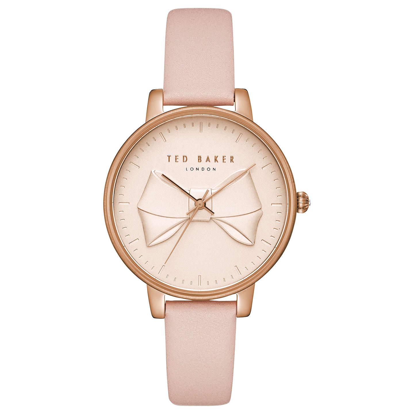 accessories nude baker watch rose pink dial porcelain gallery lyst watches ted