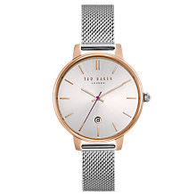 Buy Ted Baker Women's Kate Date Mesh Bracelet Strap Watch Online at johnlewis.com
