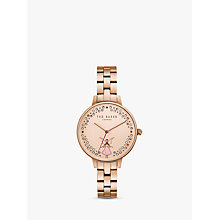 Buy Ted Baker TE50005003 Women's Kate Ballerina Mesh Bracelet Strap Watch, Rose Gold Online at johnlewis.com