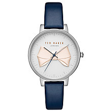 Buy Ted Baker Women's Brook Bow Detail Leather Strap Watch Online at johnlewis.com