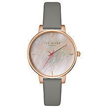 Buy Ted Baker Women's Kate Leather Strap Watch, Moss/Gold Online at johnlewis.com