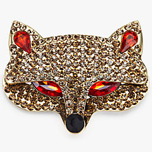 Buy John Lewis Fox Brooch, Gold/Ruby Red Online at johnlewis.com