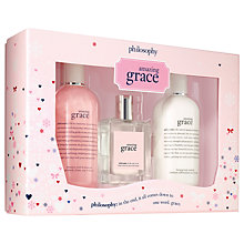 Buy Philosophy Amazing Grace Body And Fragrance Gift Set Online at johnlewis.com