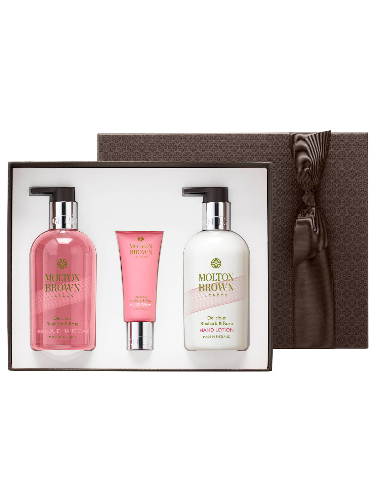 BuyMolton Brown Delicious Rhubarb & Rose Hand Care Gift Set Online at johnlewis. ...
