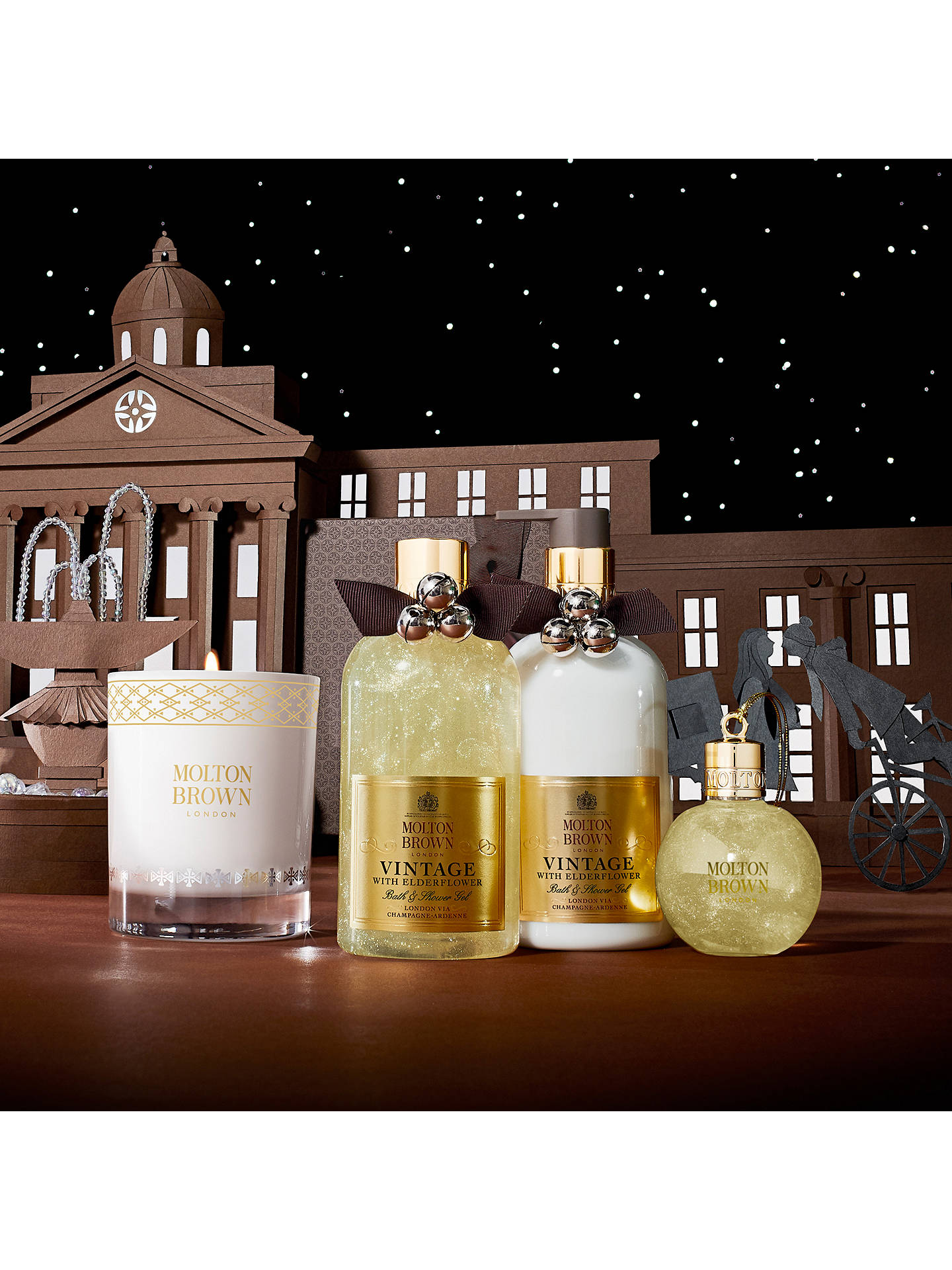 BuyMolton Brown Vintage With Elderflower Body Wash Festive Bauble Online at johnlewis.com