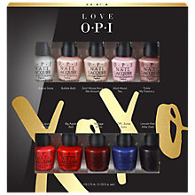 Buy OPI Love OPI 10 Piece Mini Nail Lacquer Gift Set Online at johnlewis.com