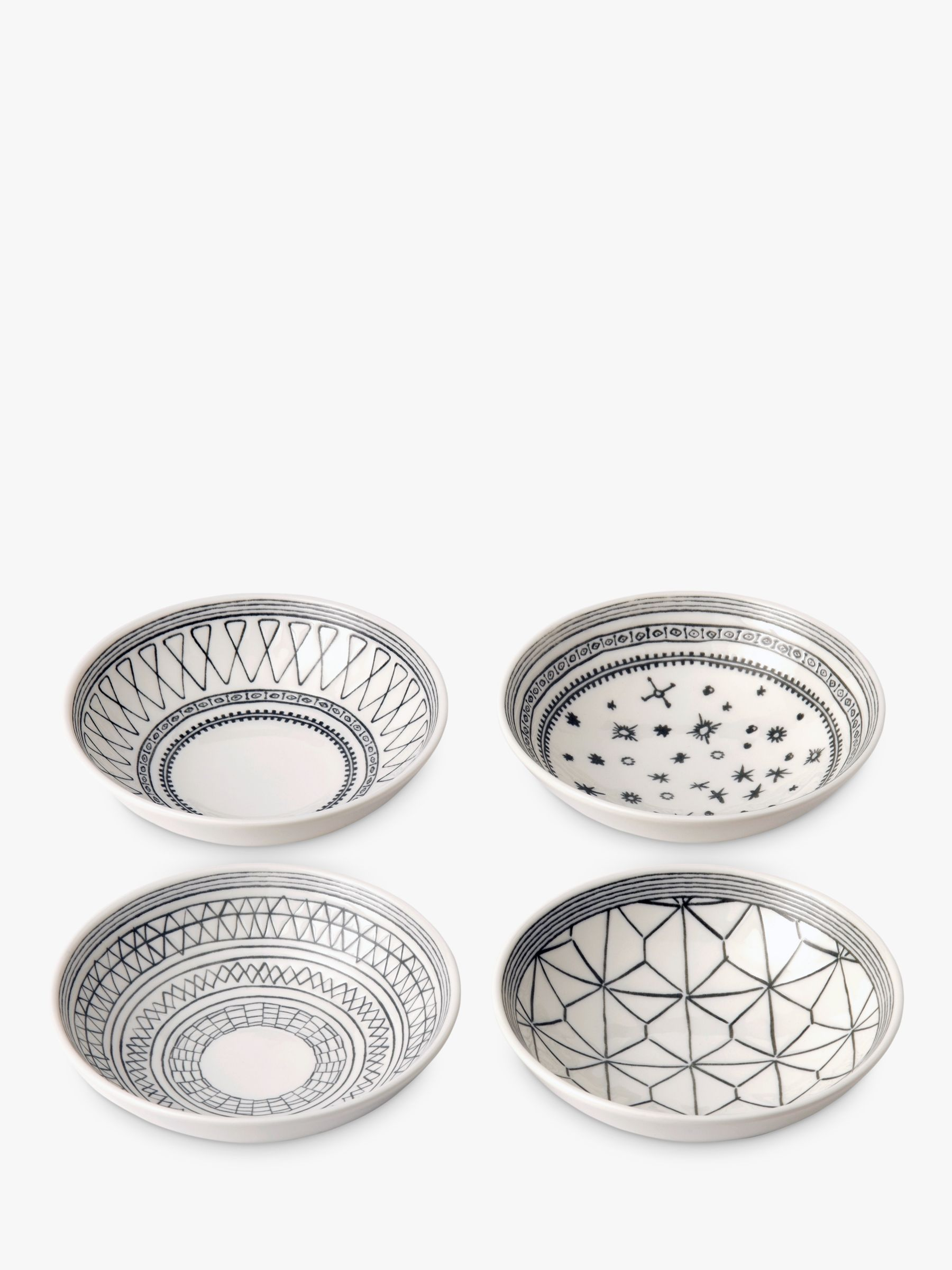 Royal Doulton ED Ellen DeGeneres for Royal Doulton Bowls, Charcoal Grey, Dia.14cm, Set of 4