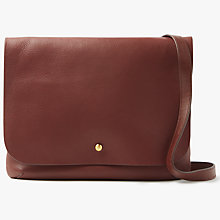 Buy John Lewis Rhea Leather Medium Cross Body Satchel Online at johnlewis.com