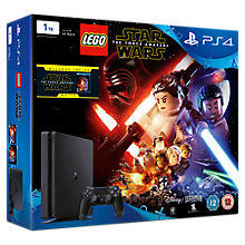 Buy PS4 Slim Console, 1TB, with LEGO Star Wars: The Force Awakens Game + Blu-Ray Movie Online at johnlewis.com